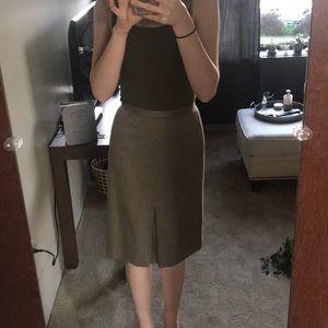 LOFT Taupe Pencil Skirt
